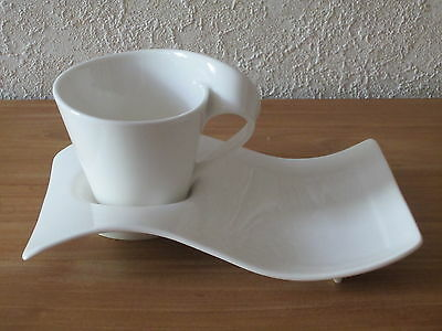 VILLEROY & BOCH *NEW* New Wave Set 3 Tasses Cappuccino 25cl + plateaux Cups V&B