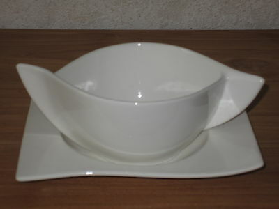 VILLEROY & BOCH *NEW* New Wave Set 2 Tasses à Bouillon 45cl + soucoupe 15cm V&B