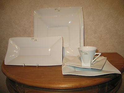 PHILIPPE DESHOULIERES *NEW* KAOLIN  Set 3 Assiettes + 1 Tasse + 1 Plat douceur