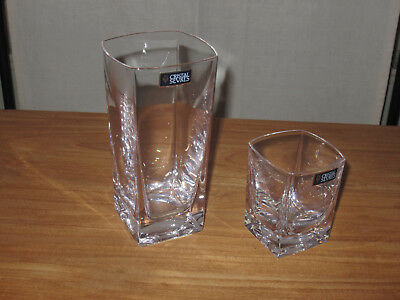 CRISTAL DE SEVRES *NEW* KEOS Set 3 Verres Glasses