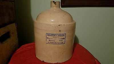 Fort Dodge Iowa Mankato Minnesota Advertising Stoneware Crock Jug Liquor