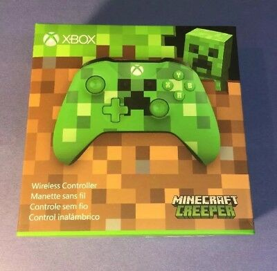 Microsoft XBOX ONE Wireless Controller [ Minecraft Creeper Special Edition ] NEW