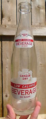 "RARE 1964's VINTAGE CANADA DRY BEVERAGE ""NO SUGAR"" (10 oz) ACL SODA POP BOTTLE"