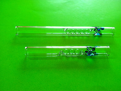 Set of 2 Tobacco Glass Smoking Pipes,,Intercooler''Free Delivery