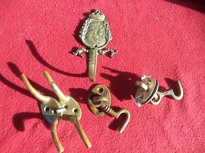 Lot Ancienne Embrase A Rideau Louis Xiv En Bronze Crochet Fermeture Porte