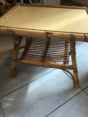 Table bambou vintage