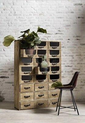 Nordal Of Denmark Wooden Pharmacy Cabinet Apothecary Stunning 24 Drawers