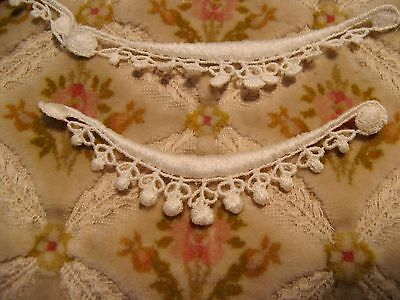 Antique Cotton Applique Embroidered With Buables *