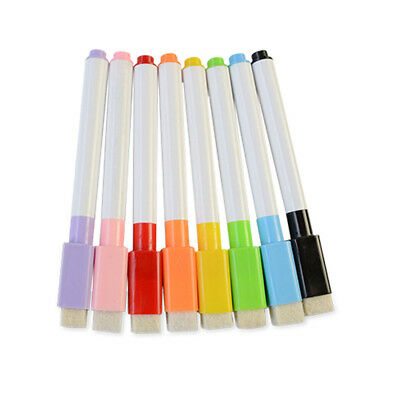 White Board 8 Colour Environmental Protection Pens Dry Erase Magnetic Hot Set