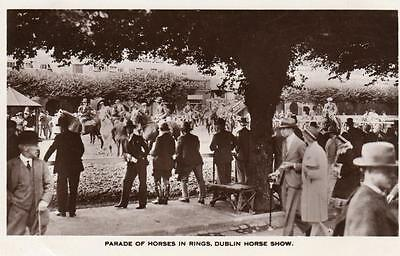 Dublin Horse Show Horse Racing unused RP old pc Curran