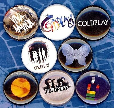 COLDPLAY 8 NEW button pin badges pop music