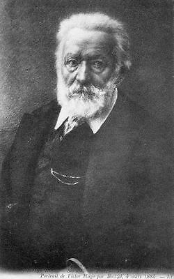 Portrait de Victor Hugo Guernsey Literary Author unused old pc Louis Levy LL
