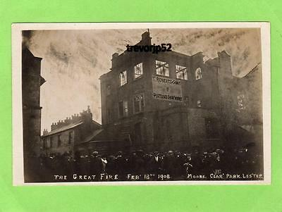 Fire Portland Shoe Works Leicester T Roberts & Sons 1908 unused  RP pc Ref A941