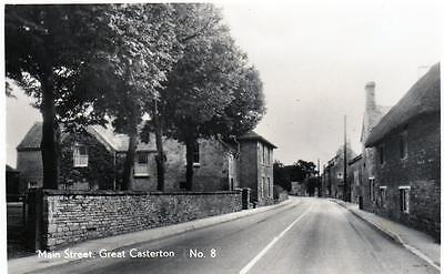 Great Casterton Main Street Nr Stamford RP old postcard used Good
