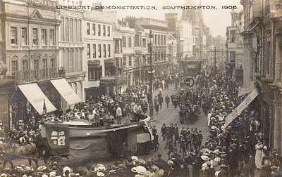 Lifeboat Demonstration Southampton 1906 RP old pc used Whitfield Cosser
