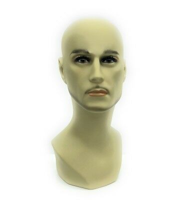 Mannequin Head Bust Wig Hat Jewelry Display Male MD-JackF1-X