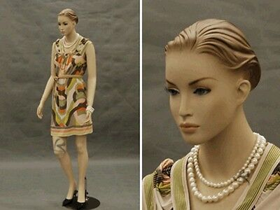 Female Fiberglass Mannequin Pretty Face Elegant Looking Dress Form #MD-AC3F