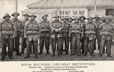 RNLI Royal National Lifeboat Institution Advertising unused old pc Southport ?
