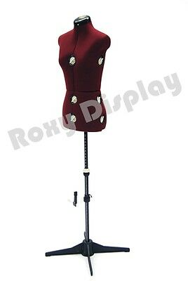 Female Adjustable Sewing Dress Form Mannequin Torso Stand Small Size #JF-FH-2