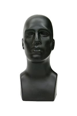 Abstract Male mannequin Head Light weight Style Display Head #PS-M-BK