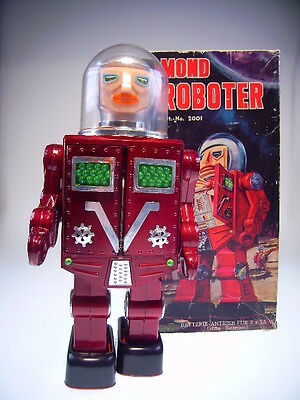 "Gsr Robot ""lunar Spaceman / Mond Roboter"", Hk, Bo Ok, Like Neu/new In Box !"