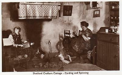 Shetland Crofters Cottage Carding & Spinning  unused RP old pc
