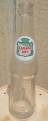 "VINTAGE 1959-69's CANADA DRY ""QUALITY BEVERAGES"" (10 OZ.) ACL SODA POP BOTTLE"