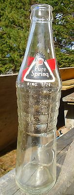 "VINTAGE 1960's PURE SPRING ""KING SIZE"" (10 OZ.) ACL SODA POP BOTTLE - OTTAWA, ON"
