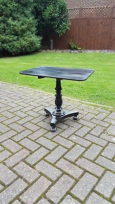 Georgian Regency William IV Ebonised Inlaid Small Tilt Top Occasional Table