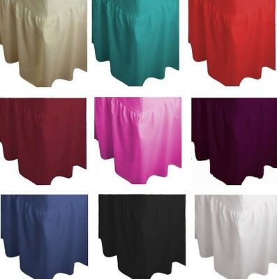 Fitted Valance Sheet, Luxury Non- Iron Plain Dyed Poly-Cotton Double,Single,King