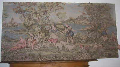 Vintage French ? Tapestry Very Large  76 X 38 Inches