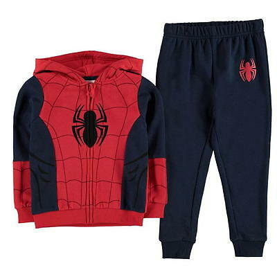 Spiderman:full Zip Hooded Jog Set,2/3,3/4,4/5,5/6,7/8,9/10Yrs,new With Tags