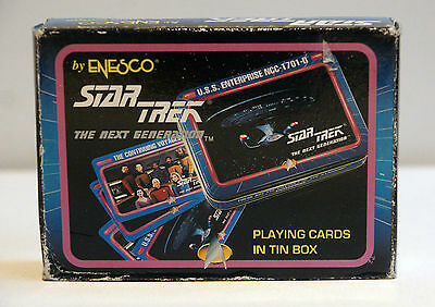 Star Trek The Next Generation Playing Cards in Tin Box - Enesco - New