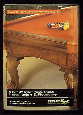 Billiard Pool Table Installation and Recovering Instructions DVD  Step by Step