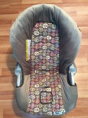 Graco 34 35 SnugRide Baby Car Seat Cushion Cover Part Set Beige Red Blue