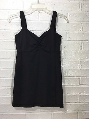 Women's Lululemon Sports Bra Size 6 Black Athletic Fitness Yoga Tank Top Blouse