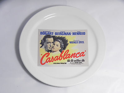 "Pottery Barn Casablanca 2002 Turner Classic Movies Collectors Plate 8"", Bogart"