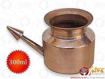 Copper Jal Neti Pot for Sinus Cleansing- 1 Pcs- (Capacity- 300ml) Free Shipping