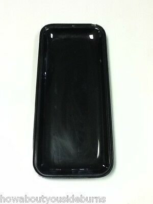 Deli restaurant bar black rectangle serving tray platter bowl one item AC2