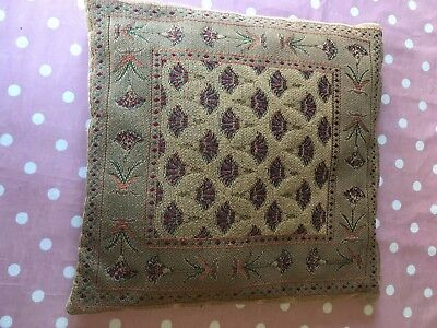 Vintage Needlepoint Tapestry Cushions Shabby Chic
