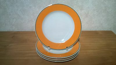 GUY DEGRENNE *NEW* Sucré Salé Colorama Orange Set 4 Assiettes à dessert 20cm
