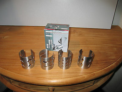 ETERNUM *NEW* Set 4 ronds de serviette inox Napkin rings