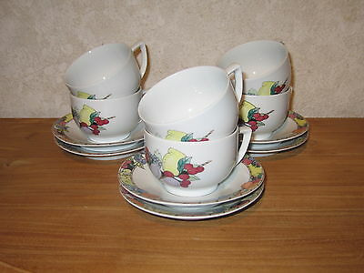ICM I.C.M. *NEW* FRUTTI Set 6 tasses et soucoupes Cups