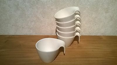 VILLEROY & BOCH *NEW* Flow Set 6 Tasses à café 20cl (sans soucoupes) V&B