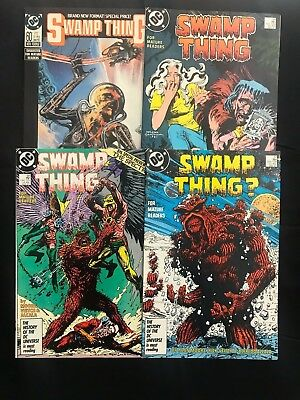 Lot Of 4 Swamp Thing Comic Books #57 #58 #59 #60