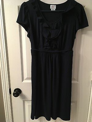 Oh Baby by Motherhood navy blue knee length maternity dress, size large