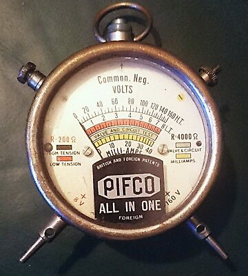 Rare Vintage Pifco All-In-One Voltmeter. 160 Volts. Tested.
