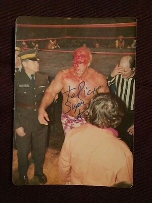 Superstar Billy Graham Vintage Candid Wrestling Autographed Signed Photo IP