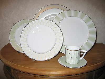 GUY DEGRENNE *NEW* Nubia 1 Assiette plate Rayures