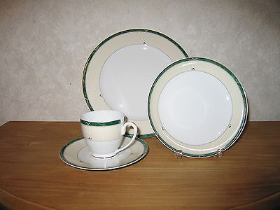 GUY DEGRENNE *NEW* Mycènes Vert Set 2 Assiettes + Tasse à café